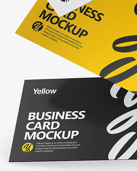 Download Business Card Mock Up Template Yellowimages