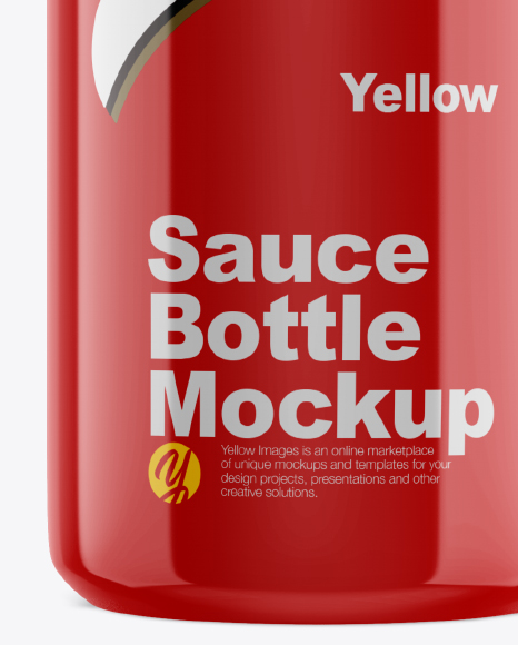 Download Glossy Bottle Spout Cap Psd Mockup Yellow Images