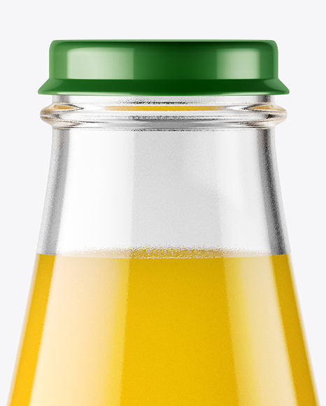 Download Clear Glass Bottle Orange Juice Psd Mockup Yellowimages