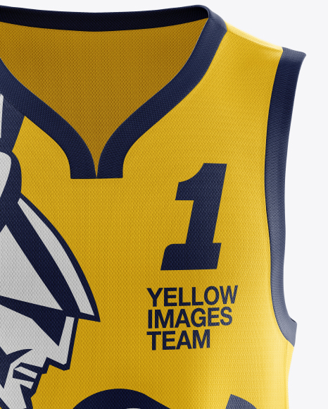 Download Basketball Kit W V Neck Tank Top Mockup Front View Yellow Images