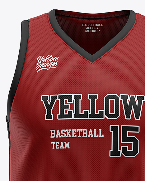 Download Download Mens Basketball Jersey Mockup Back View Yellow Images