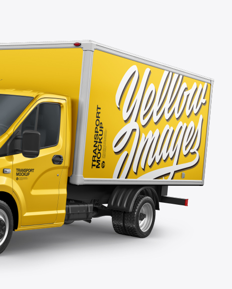 Download Box Truck Mockup - Free PSD Mockups Smart Object and ...