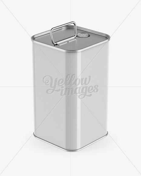 Download 1l Metallic Olive Oil Tin Can Psd Mockup Yellow Images