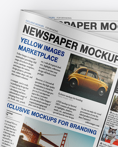 Download Free Mockup Newspaper Psd Yellowimages