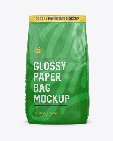 Paper bag · free pngs, stickers, photos, aesthetic backgrounds and wallpapers, vector illustrations and art. Glossy Paper Bag Mockup Front View In Bag Sack Mockups On Yellow Images Object Mockups