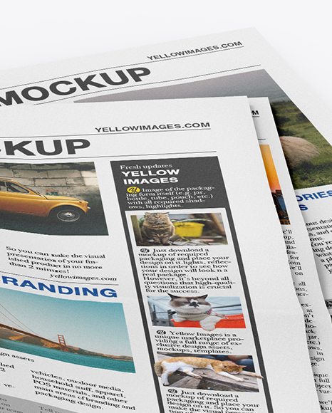 Download Newspaper Ad Mockup Yellowimages