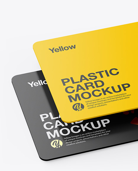 Download Plastic Card Psd Mockup Yellowimages