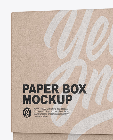 Download Square Kraft Box Psd Mockup Half Side View Yellow Images