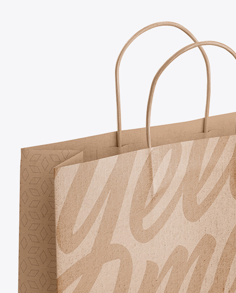 Download Paper Bag Psd Mockup Half Side View High Angle Shot Yellowimages