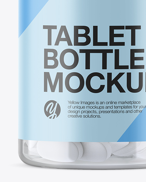 Download Clear Plastic Pill Bottle Psd Mockup Yellowimages