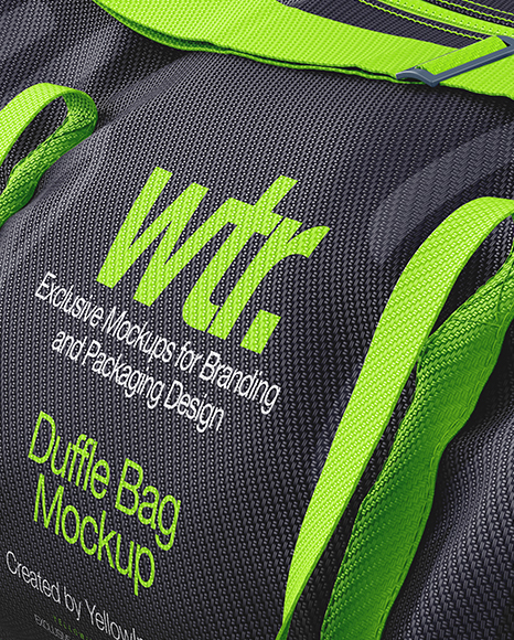 You must be searching for some designs to put on your newly launched line of sports bags. Duffle Bag Mockup Halfside View In Apparel Mockups On Yellow Images Object Mockups