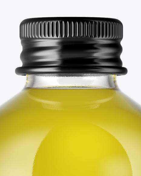 Download Antique Green Glass Bottle With Olive Oil Psd Mockup Yellowimages