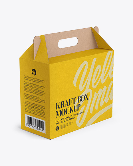 Moreover, the custom printing gable packaging boxes play a major role in enhancing the appearance of your gifts. Kraft Box Mockup Half Side View High Angle Shot In Box Mockups On Yellow Images Object Mockups