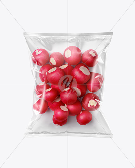 Download Plastic Bag With Radish Psd Mockup Yellowimages