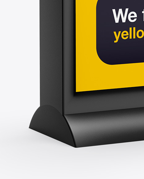 Download Light Box Sign Mockup Yellow Images
