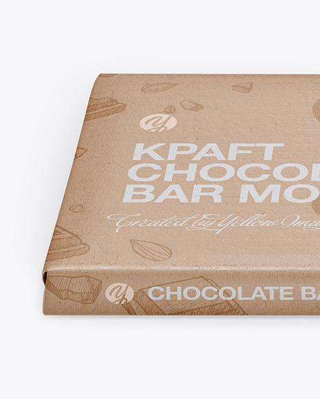 Download Kraft Glossy Chocolate Bar Psd Mockup Front View High Angle Shot Yellow Images