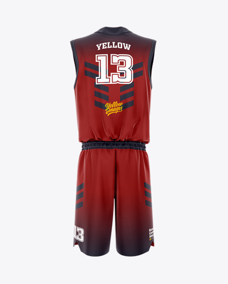 Download Basketball Uniform Back View Jersey Mockup PSD File 64.64 MB