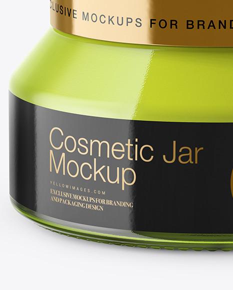 Download Cosmetic Jar Mockup Yellowimages