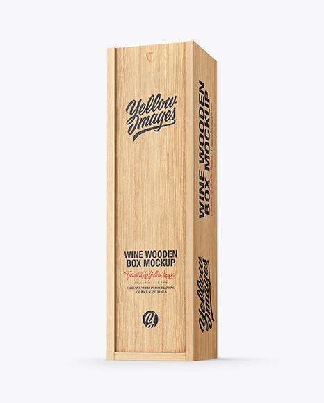 Download Box Wood Mockup Yellowimages