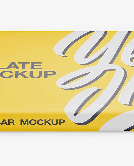 Download Kraft Matte Chocolate Bar Psd Mockup Halfside View High Angle Shot Yellowimages