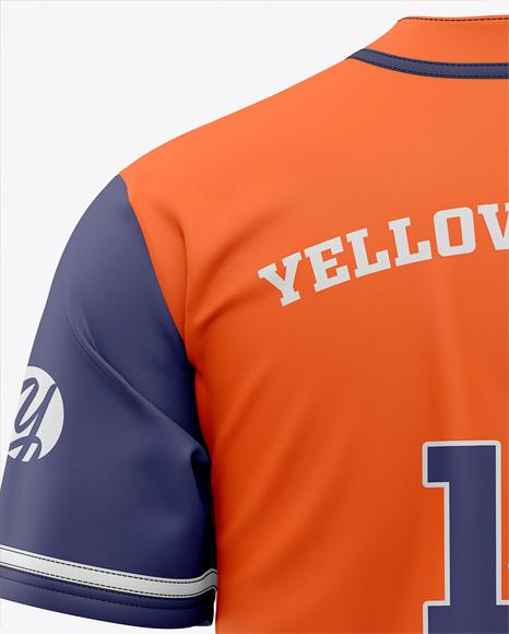 Download Men's Baseball Jersey Mockup - Back View in Apparel ...