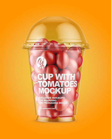 Download Cup With Yellow Cherry Tomatoes Psd Mockup Yellowimages