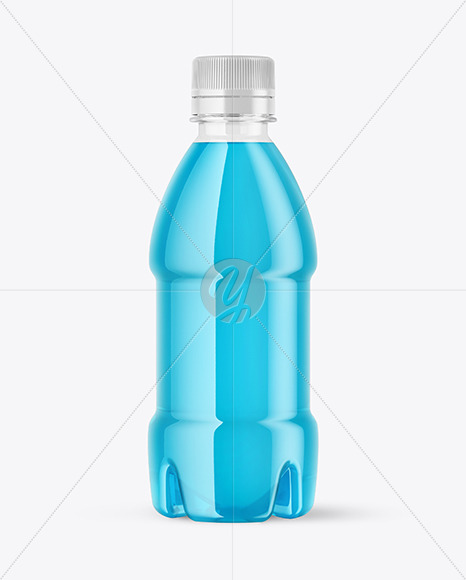 Download Glass Spray Bottle With Shrink Sleeve Psd Mockup Yellow Images