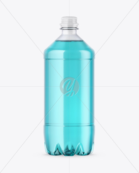 Download Amber Pet Bottle With Water Psd Mockup Yellowimages