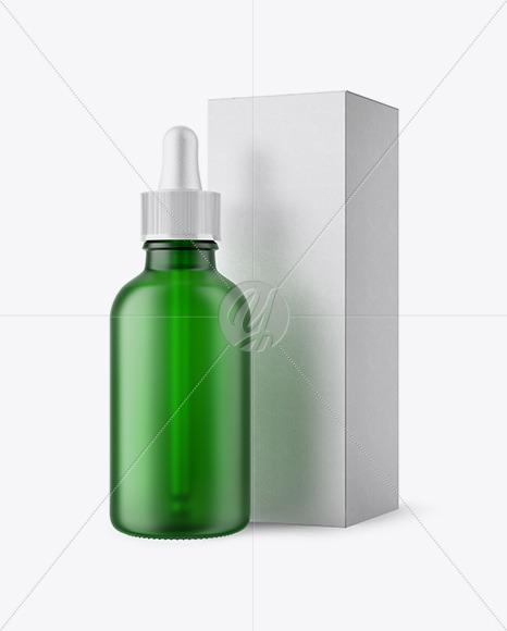 Download Dark Green Glass Cosmetic Jar Psd Mockup Yellowimages