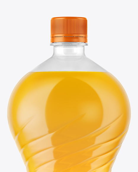 Download 2l Pet Bottle With Orange Drink Psd Mockup Yellowimages