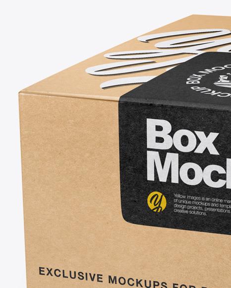 Fast food box mockup psd. Kraft Box Mockup In Box Mockups On Yellow Images Object Mockups