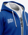 Download Basketball Full Zip Hoodie Mockup Front Half Side View Of Hooded Jacket Yellowimages