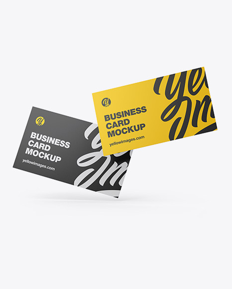 Download Business Card Mockups Yellowimages