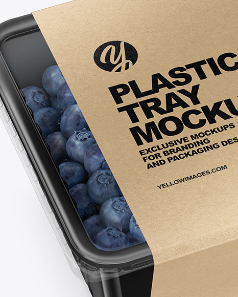 Download Container Blueberries Psd Mockup Yellowimages