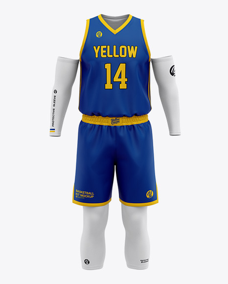 Download Mens Basketball Kit Front View Jersey Mockup PSD File 118 ...