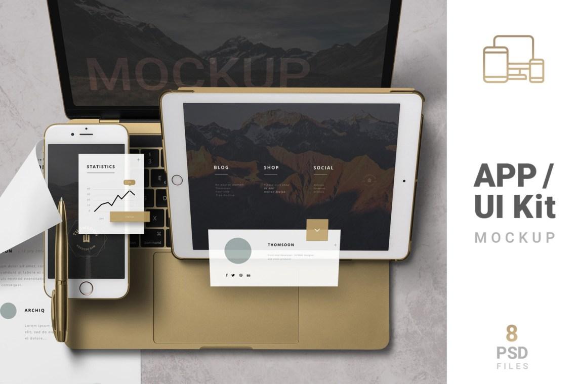 Download App Mockup Ui Kit Yellowimages