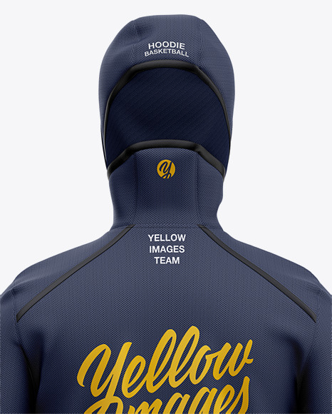 Download Basketball Full Zip Hoodie Mockup Back View Of Hooded Jacket Yellowimages