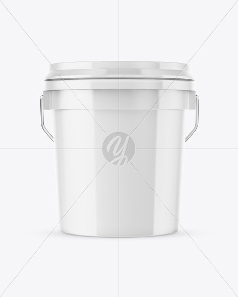 Download 16l Glossy Paint Bucket Psd Mockup Yellow Images