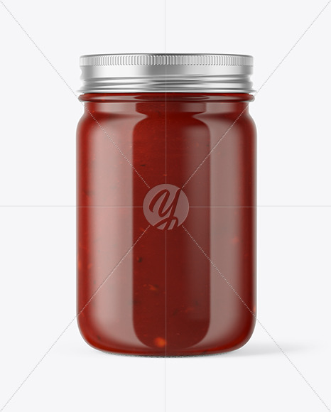 Download Glass Jar With Sauce Psd Mockup Yellowimages