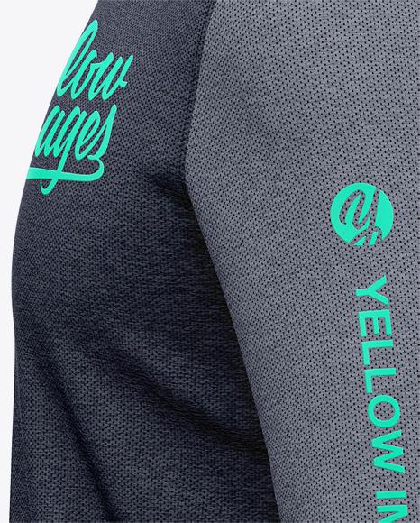 Download Basketball Heather Hoodie Mockup Back Half Side View Of Hooded Jacket Yellowimages