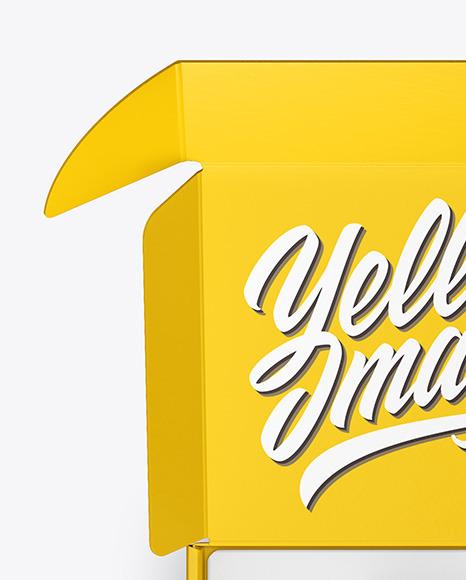 Download Glossy Box Pills Psd Mockup Yellow Images