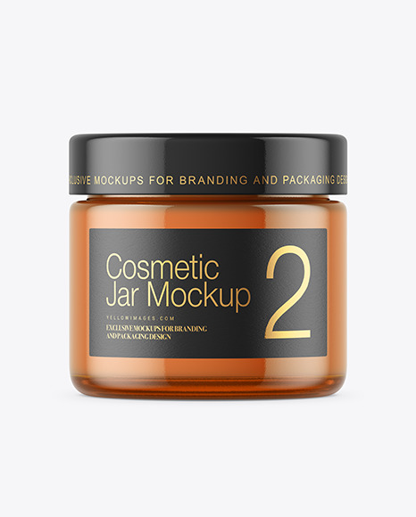 Download Cosmetic Glass Jar Mockup Yellow Images