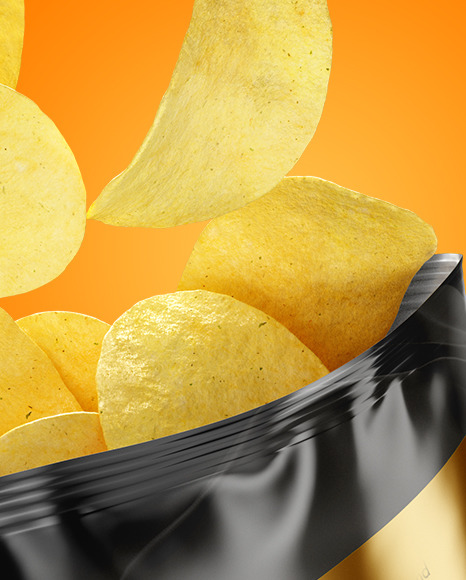 Download Bag With Corn Flakes Psd Mockup Yellowimages