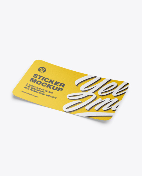 Download Sticker Roll Mockup Free Yellowimages