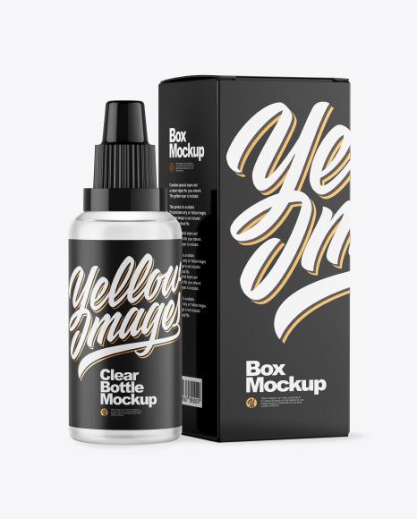 Download 50ml Matte Dark Amber Glass Dropper Bottle Box Yellowimages
