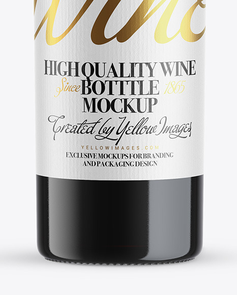 Download Black Wine Bottle Mockup Yellow Images