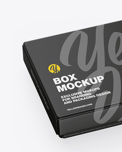 Download Opened Matte Gift Box Psd Mockup Yellowimages