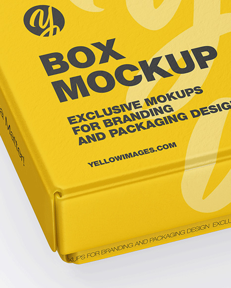 Download Snack Box Mockup Yellow Images