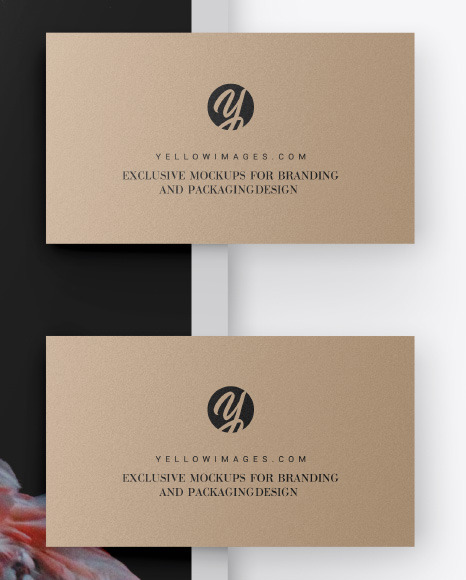 Download Rounded Business Card Mockup Yellow Images