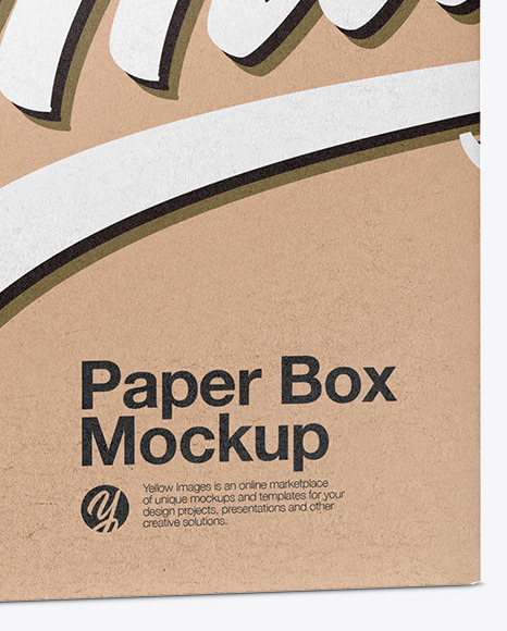 Download Square Kraft Box Psd Mockup Half Side View Yellowimages